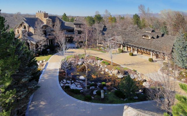 The sprawling home sits on a 3.6-acre lot in Holladay, about 10 miles outside of Salt Lake City.