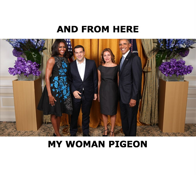 Obama Tsipras Pigeon Michele